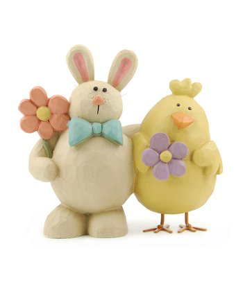 Floral Easter Chick & Bunny Collectible