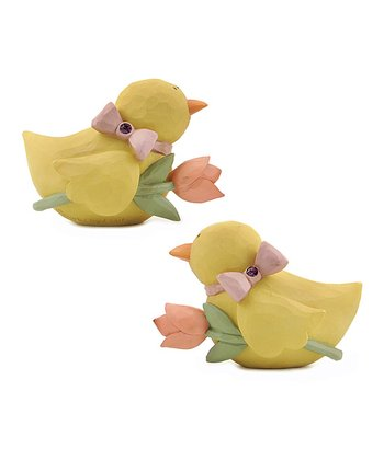 Floral Duckling Collectible Set
