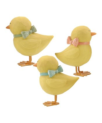 Easter Chick & Bow Collectible Set