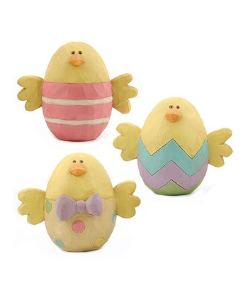 Easter Egg Chick Collectible Set