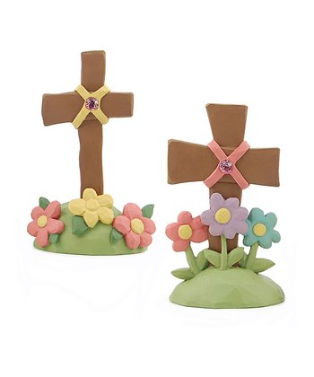 Jeweled Cross Collectible Set