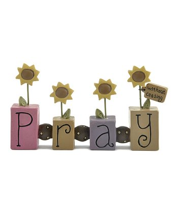 'Pray' Sunflower Bead Block Collectible