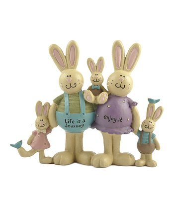 'Life is a Journey' Bunny Family Collectible