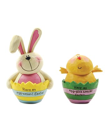 'Egg-stra Special' Chick & Bunny Collectible Set