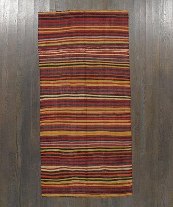 Multicolor Stripe Kilim Wool Rug