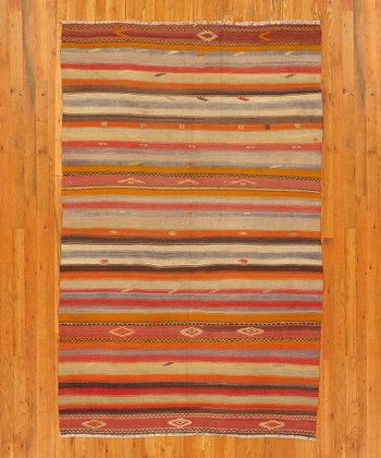 Multicolor Heather Kilim Wool Rug