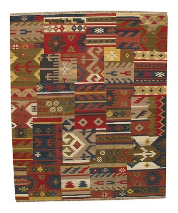 Multicolor Renea Kilim Wool Rug