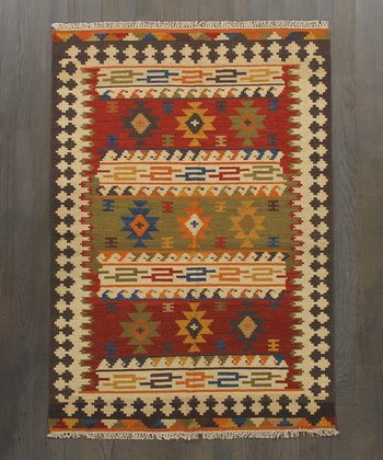 Multicolor Lauren Kilim Wool Rug