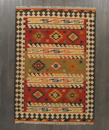 Multicolor Dominique Kilim Wool Rug