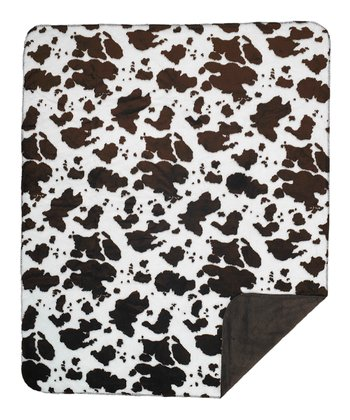 Brown Cow Double-Sided Throw Blanket