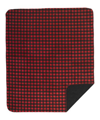 Black Buffalo Check Double-Sided Throw Blanket