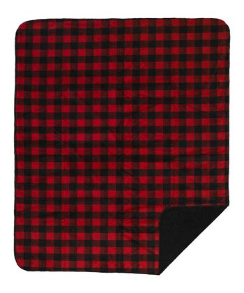 Red & Black Plaid Reversible Throw