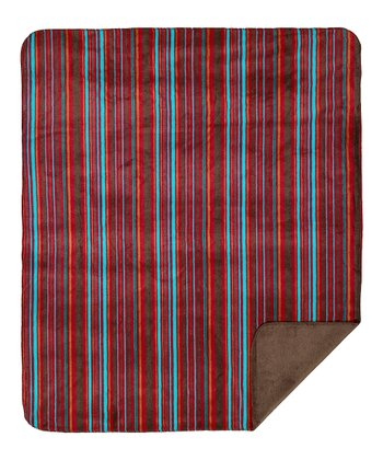 Native Stripe Double-Sided Throw Blanket
