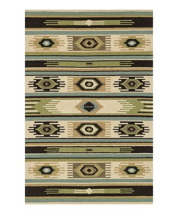 Blue & Green Taos Wool Rug