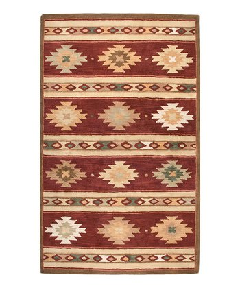 Red Southwest Hand-Tufted Wool Rug