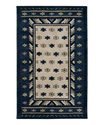 Beige Southwest Stars Hand-Tufted Wool Rug