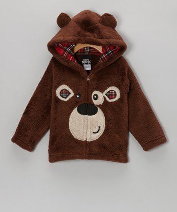 Brown Bear Plush Hooded Jacket - Infant & Toddler