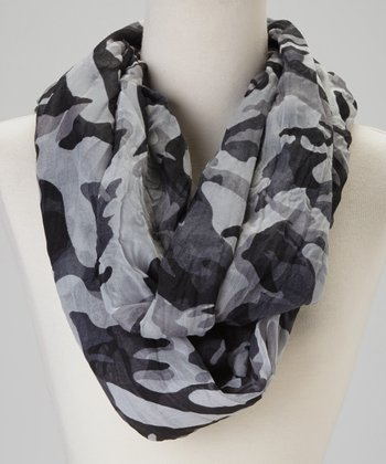 Black & Gray Camo Scarf