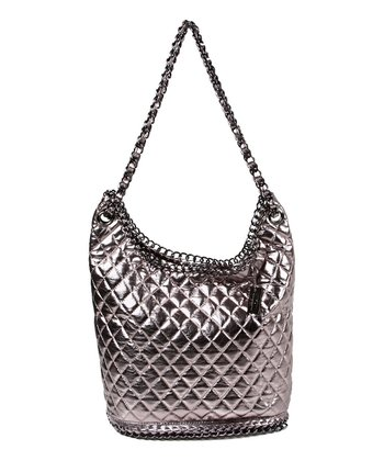 Gunmetal Metallic Kirna Hobo