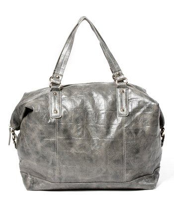 Gray Soho Croc Embossed Tote
