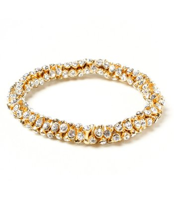 Gold Crystal Fergie Stretch Bracelet