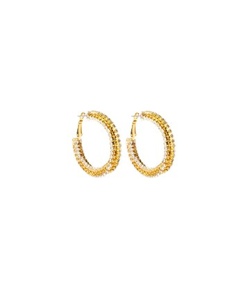 Gold & Clear Crystal Jennifer Earrings