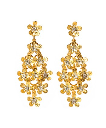 Gold Crystal Audree Earrings