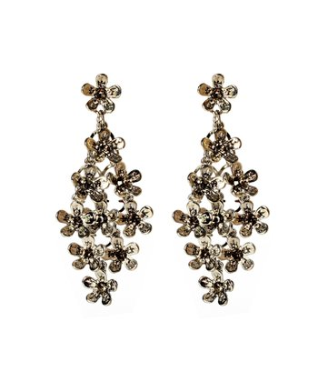 Gunmetal Crystal Audree Earrings