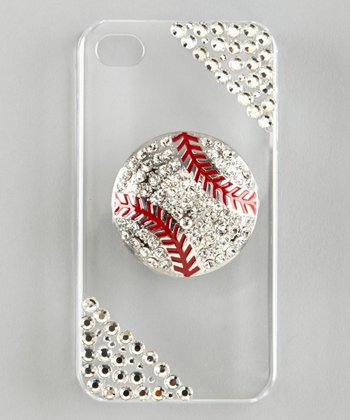 Clear Rhinestone Baseball Case for iPhone 5