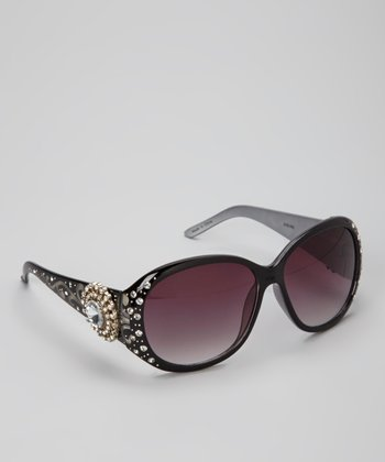Black Sun Star Rhinestone Sunglasses