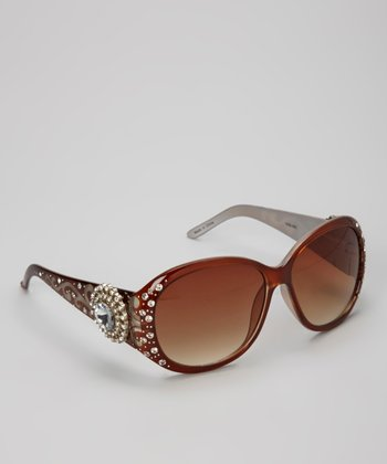 Coffee Sun Star Rhinestone Sunglasses