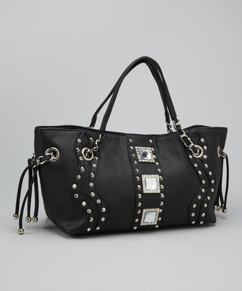 Black Rhinestone Concho Shoulder Bag