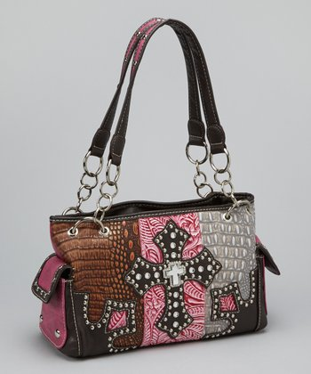 Hot Pink Textured Cross Shoulder Bag