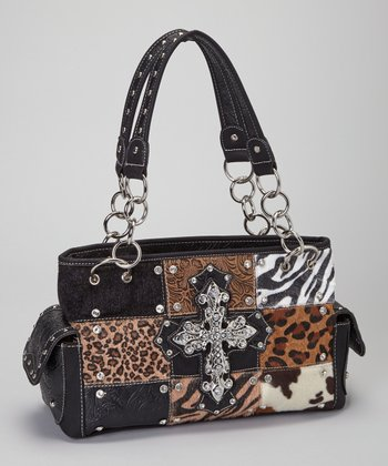 Black Safari Cross Shoulder Bag