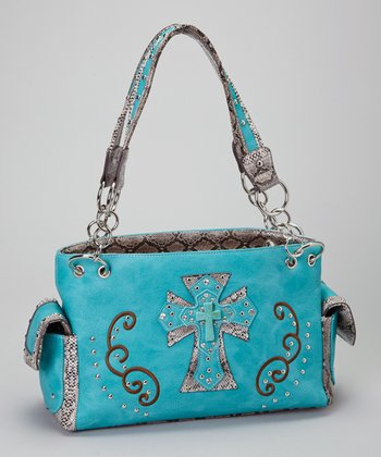 Turquoise Shadow Cross Shoulder Bag