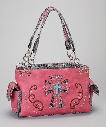 Hot Pink & Turquoise Shadow Cross Shoulder Bag