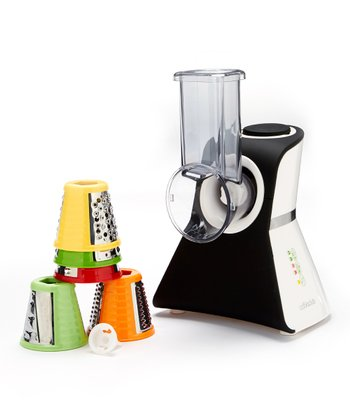 Matte Black Salad Maker Mini Food Processor & Produce Shooter