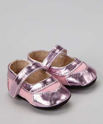 Light Pink Metallic Mary Jane