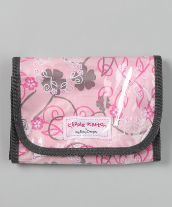 Pink Hibiscus Klippie Klutch Accessory Bag
