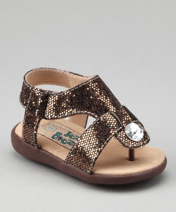 Brown Sparkle Squeaker Sandal