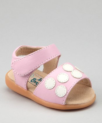 Light Pink & White Polka Dot Squeaker Sandal