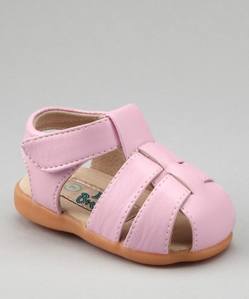Light Pink Strappy Squeaker Sandal