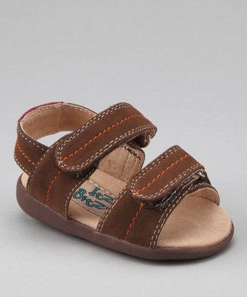 Brown Double-Strap Squeaker Sandal