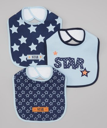 Blue 'Star' Bib Set