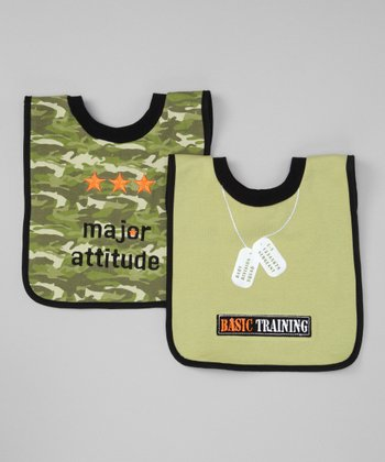 Green Sergeant Mealtime Bib Set