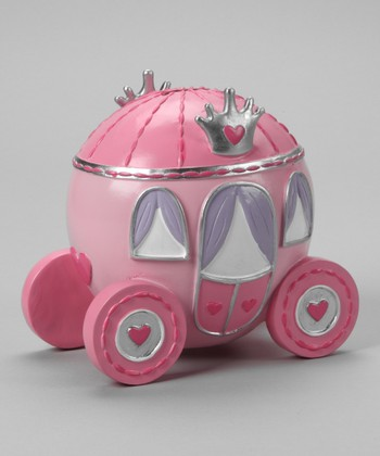 Pink Heart Carriage Bank