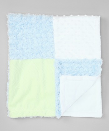 Blue Patchwork Receiving Blanket