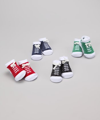 Baby Essentials Primary Colors High-Top Sneaker Socks Set