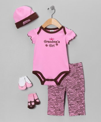 Pink 'Grandma's Girl' Layette Set