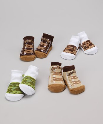 Earth Tones Camouflage Boot Socks Set